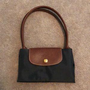 Authentic small dark gray Longchamp